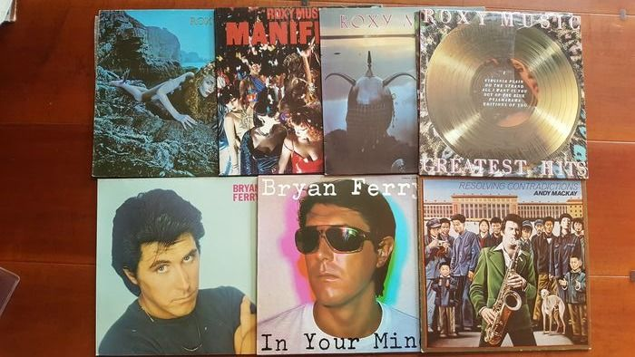Roxy Music & Related - 7 x Album  - Multiple titles - LP's - 1973/1982
