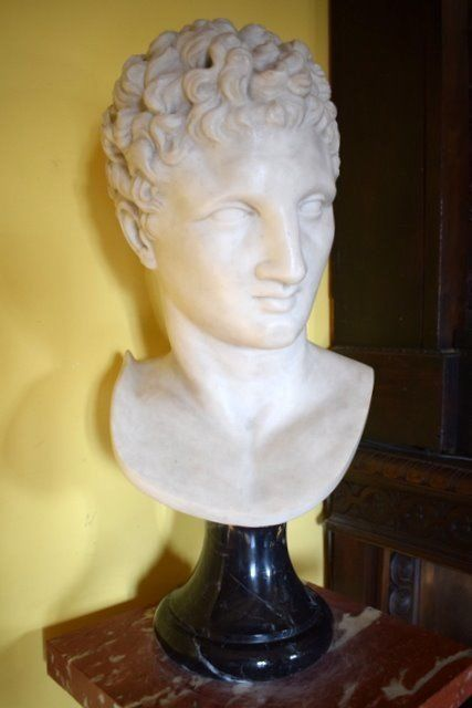 Bust of Hermes - Height cm. 62 - Marble - First half 20th century