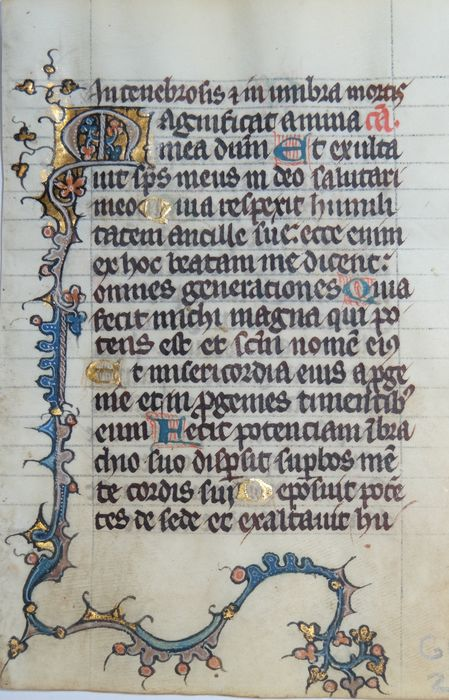 Pierart dou Tielt - Manuscript, Illuminated Book of Hours page from Tournai (Doornik) - ca - 1335