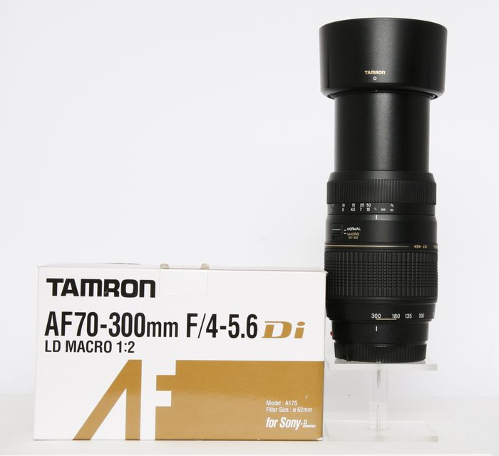 Tamron AF 70 - 300 mm. DI voor Sony A mount