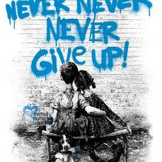 Mr Brainwash - Dont give up (Blue)