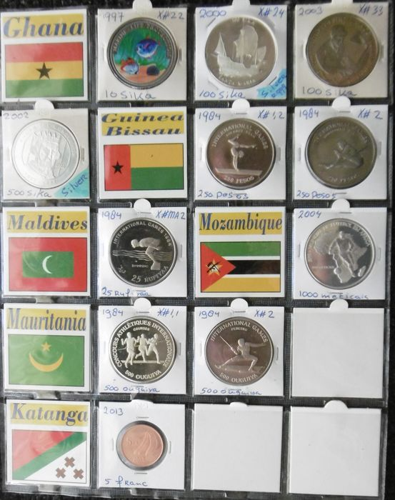 World - 1984-2013 various countries (11 pieces, including 2 silver)