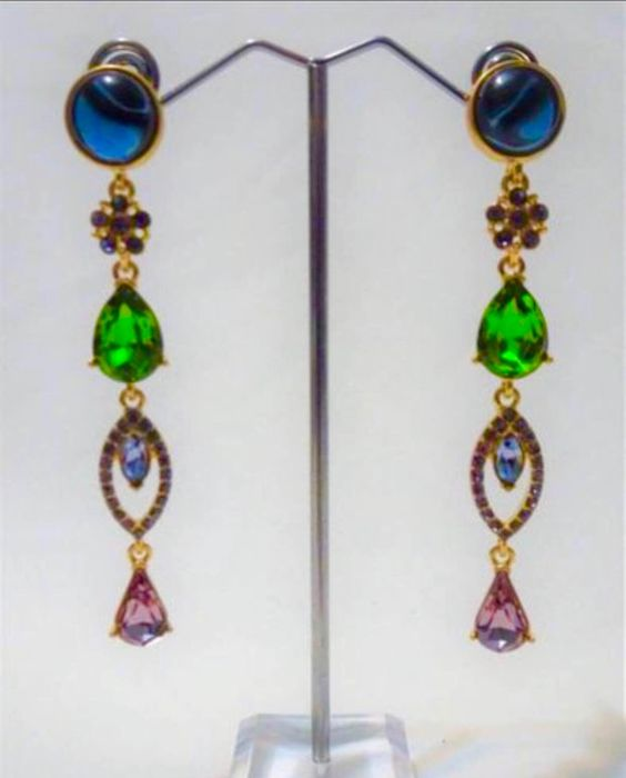 "Oscar De La Renta - ""Cascade of Dreams"" Earrings"