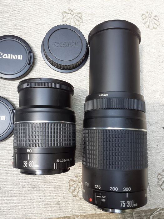 Canon EF 75-300mm + 28-80 mm