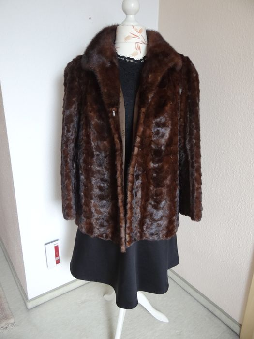Artisan Furrier - Mink fur - Fur jacket mink fur collar - Made in: Germany