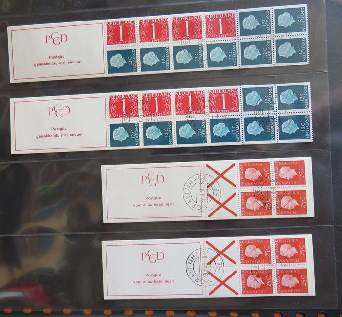 Netherlands 1969/2001 - Collection of 72 stamp booklets
