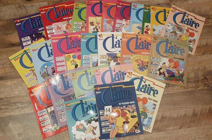 Claire - Claire 1 t/m 24 - Opeenvolgende albums - Softcover - Different editions - (1997/2013)
