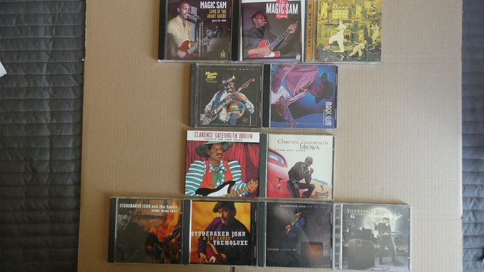 Magic Slim, Clarence ´Gatemouth´ Brown, Studebaker John and the Hawks - Multiple artists - Multiple titles - 11 CD´s - 1982/2013