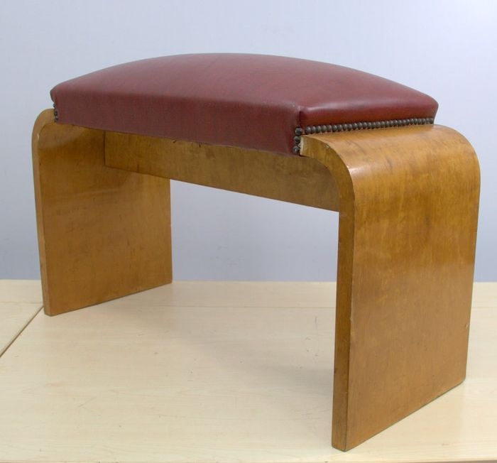Bench with curved wood