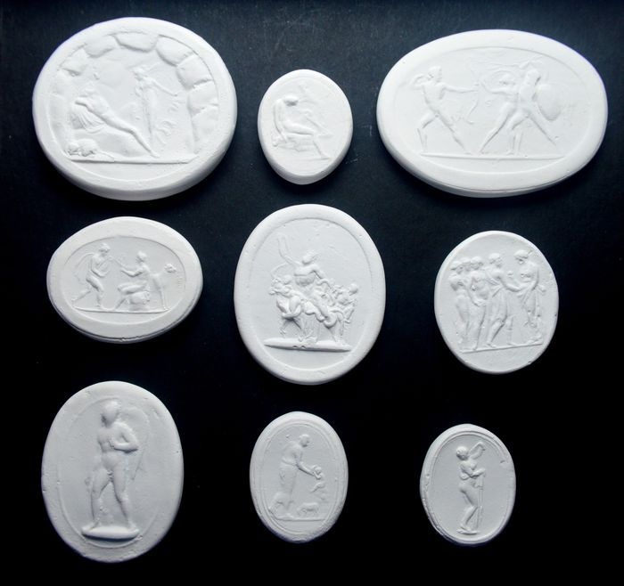 Seals (9) - Neoclassical Style - Plaster - 19th century
