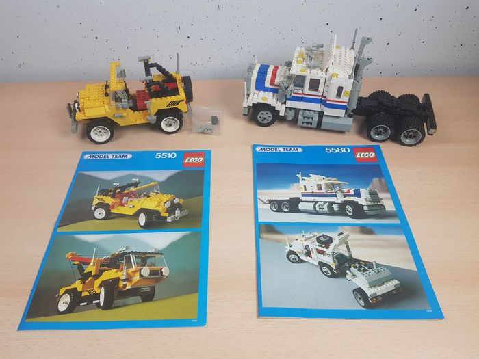 LEGO - Model Team - 5510 Off Road 4x4 + 5580 Highway Rig - compleet - 1980-1989
