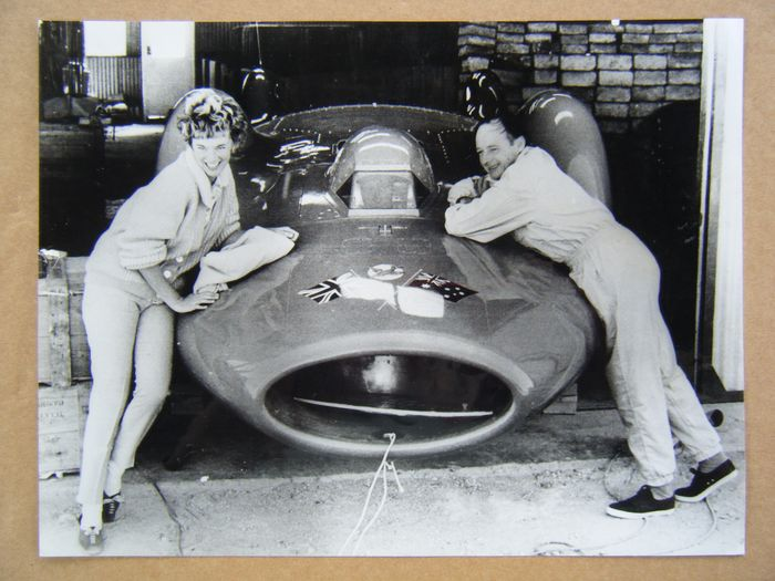 Picture - Donald Campbell (1921-1967) and his wife - Proteus Bluebird - Bluebird