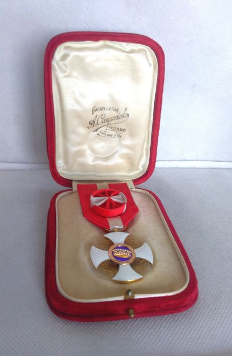 Italy - Savoy nobility - Knight Cross Official Order of the Crown of Italy
