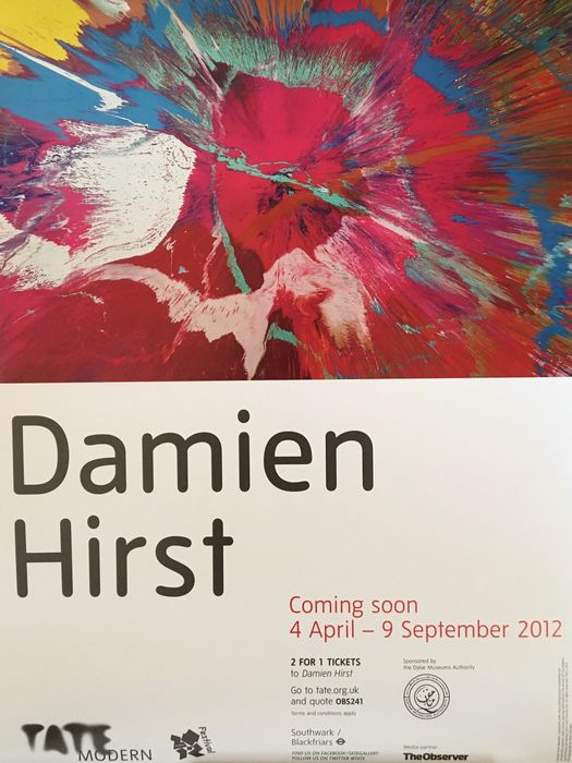 Tate Modern - Damien Hirst at Tate Modern, 2012 Exhibition Poster Spin - 2012 - Années 2010