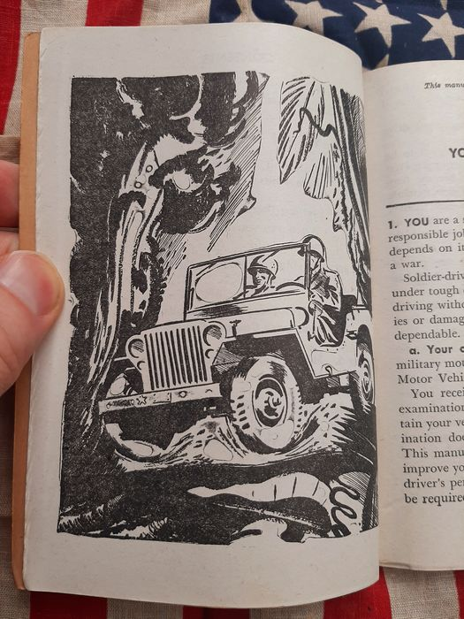 United States - RARE!!! Official US Army Driver Manual - GMC - Willys Jeep - Airborne - TM21-305 - 1944