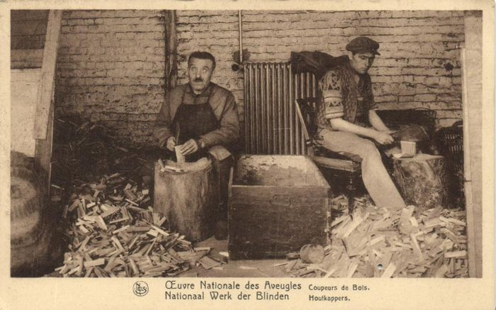 Belgium - Social places for the blind and deaf and dumb people Belgium - Social workplaces, Institutes etc. - Postcards (Collection of 27) - 1900-1930