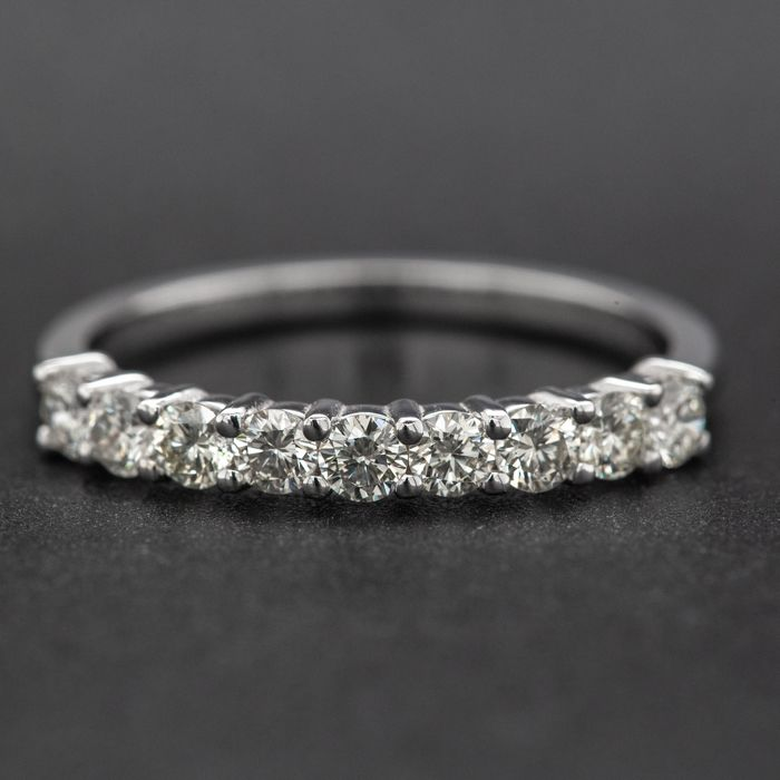 14 kt. White gold, 1.60g - Ring - 0.51 ct Diamond - No Reserve Price
