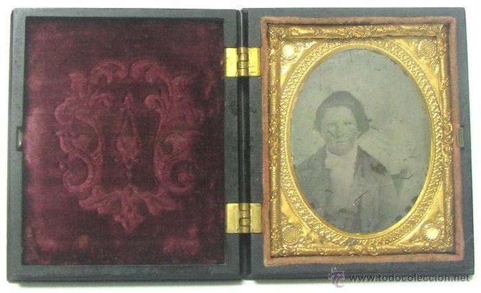 . Fine quality  ambrotype - Portrait of a gentleman  in union case, 1860's