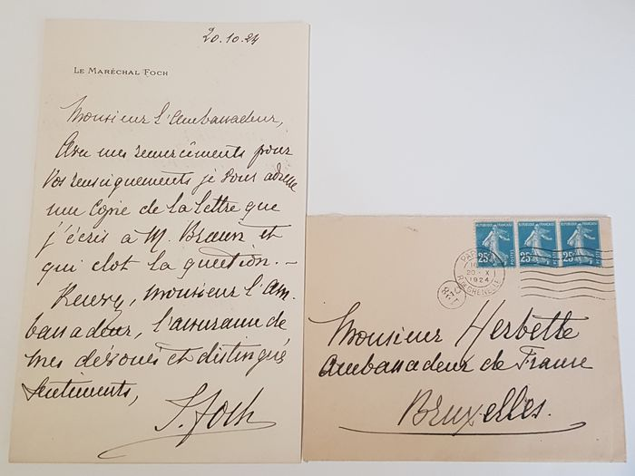 France - Marshal Foch - Letters