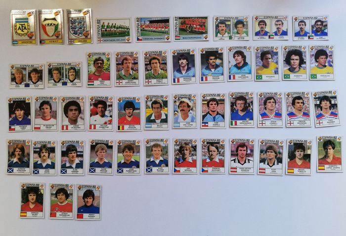 Panini - World Cup Espańa 82 - 47 original different loose stickers - 1982