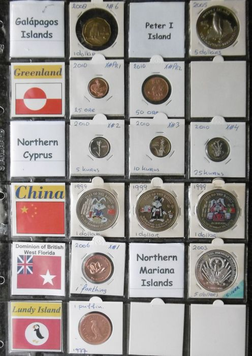 World - 1977-2010 various countries (13 pieces, including 1 silver)