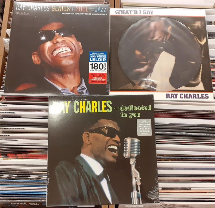 Ray Charles - Three Great Albums! || Genius + Soul = Jazz, What'd I Say, ...Dedicated To You || Mint & Sealed - Multiple titles - LP Album, LP's - 2013/2017