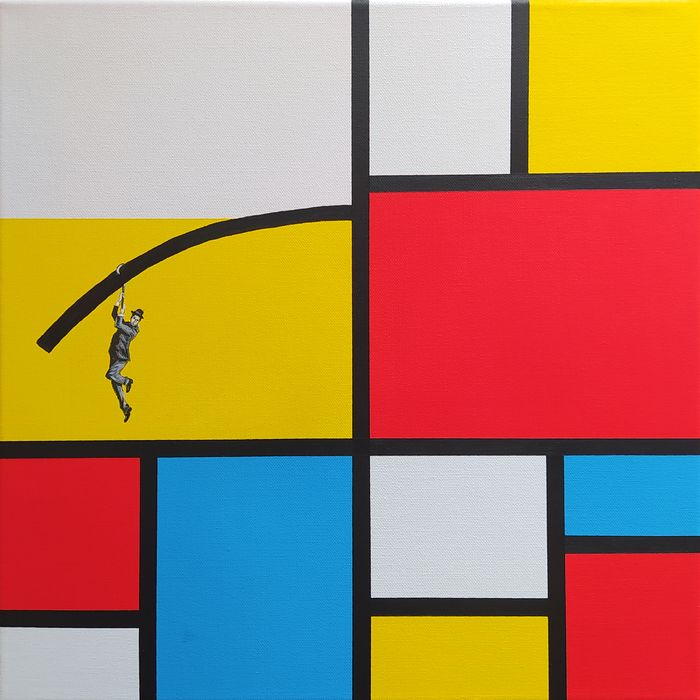 Dario Assisi - Magritte in the Mondrian world