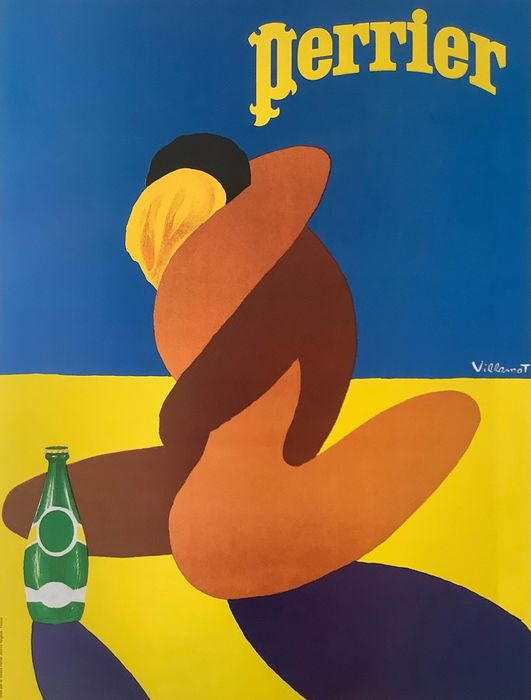 Bernard Villemot - Source Perrier  - Jaren 1970