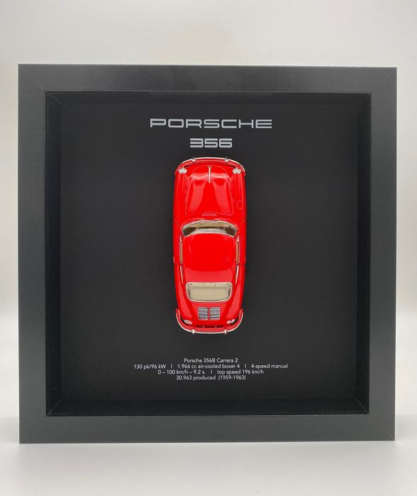 Artigo decorativo - Framed 3D object Porsche 356 B Carrera (red) 1959 - Porsche