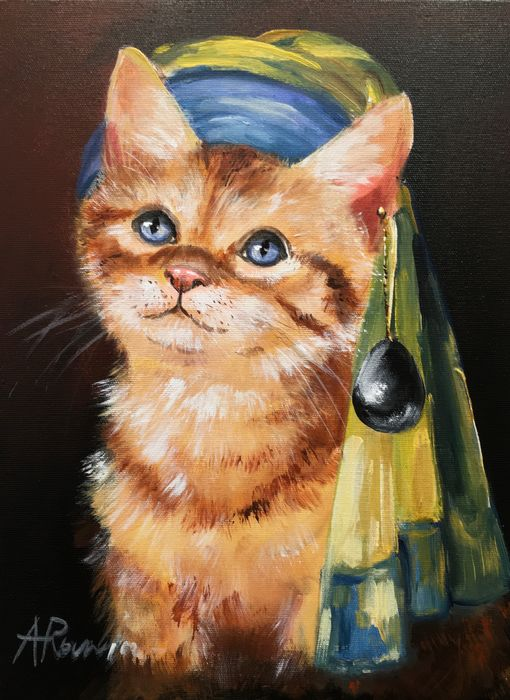 Adam Rawicz - Cat with a Pearl Earring