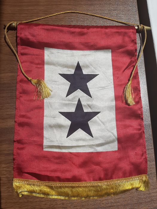 United States of America - Rare WW2 - Home-front Window Flag - ''Son in Service''  with hanger - Two Sons in Service