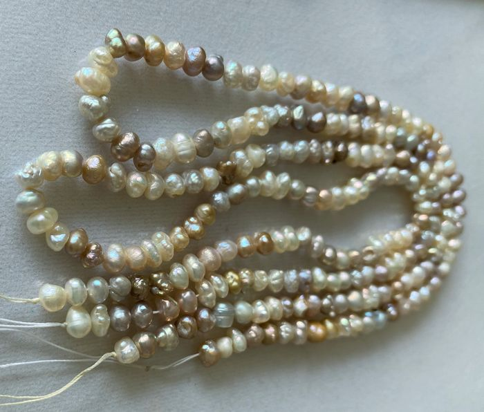 Mixed Colors Pearls strand 2 - 119.75 ct