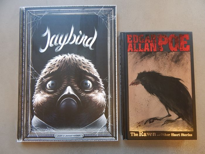 Lot met 2 uitgaven - Jaybird + Edgar Allan Poe, The Raven and other short stories - 2x hc  - Hardcover - 1st edition - (2011/2014)