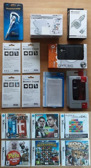 Nintendo DS - Lot of 16 DS accessoires & DS games - Σφραγισμένο στην αρχική του συσκευασία