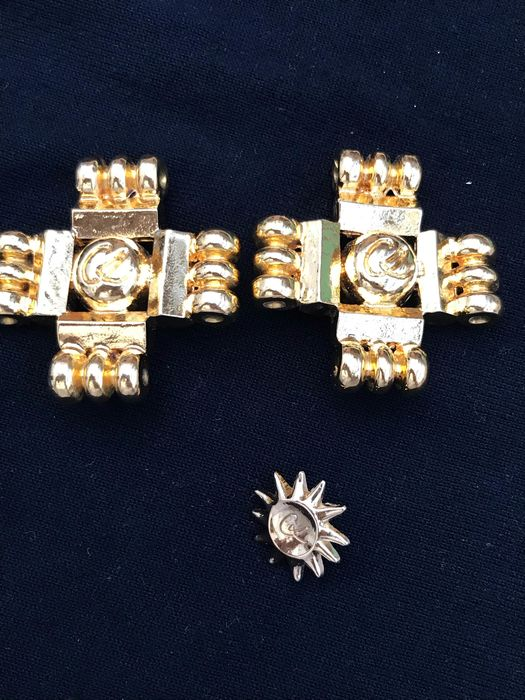 Christian Lacroix earrings and brooch