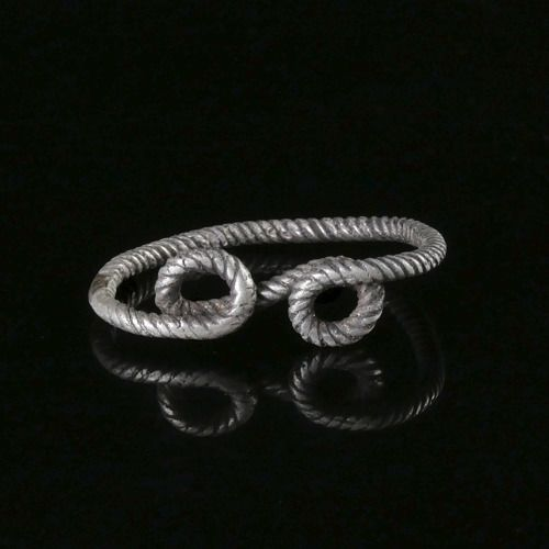 Ancient Roman Silver Ring with Infinity symbol - (1)