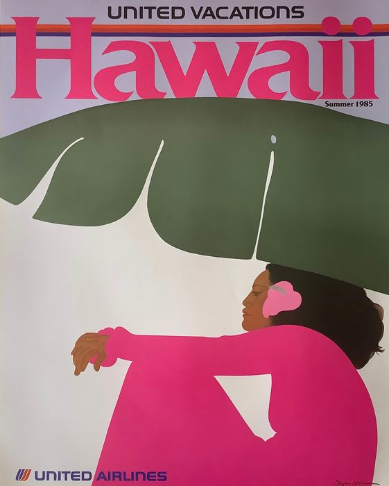 Pegge Hopper - United Airlines - Hawaii - 1985