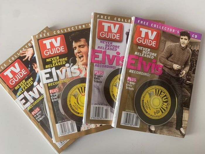 Elvis Presley - Elvis TV Guides (4x) with bonus cd - Collector's Item - Magazine - 2004/2004