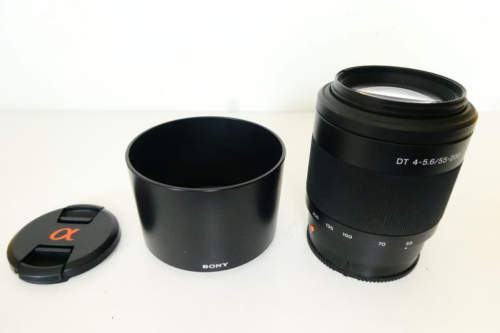 Sony 4-5,6 DT 55-200mm objectief compleet