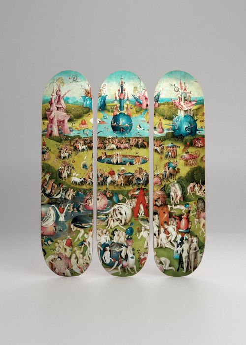 Jerome Bosh ( After ) - The Garden of Earthly Delights, Triptych skateboards