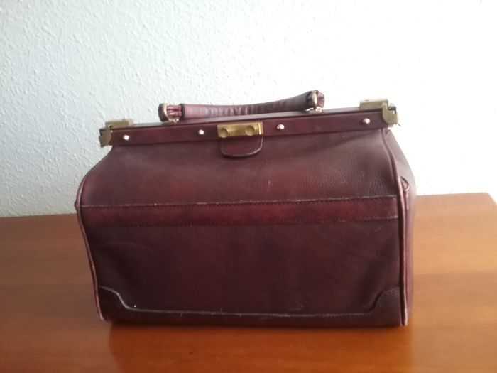 Doctor's bag, doctor's bag (1) - Brass, Leather