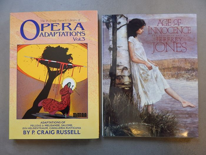 Lot met 2 uitgaven - Library Opera Adaptations Vol.3 + Age of Innocence  - 2x hc met stoffen omslag - Hardcover - 1st edition - (1994/2004)