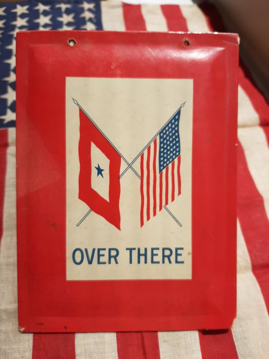 United States of America - Rare WW2 - Home-front Cardboard Window Banner - ''Son in Service'' - One Son in Service