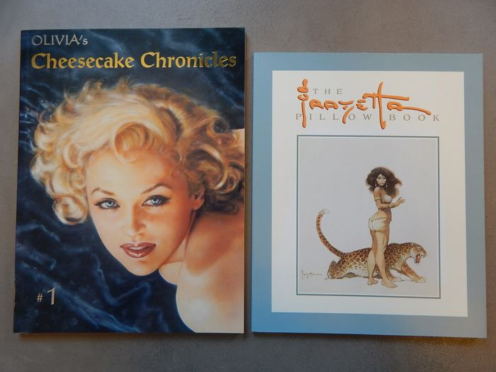 Lot met 2 uitgaven - The Frazetta Pillowbook + Olivia's Cheesecake Chronicles  - 2x oversized sc  - Softcover - 1st edition - (1994/2000)