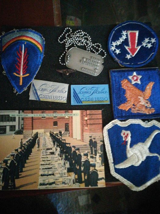 USA - Army/Infantry - Badge, Personal attributes, Postcards - 1944