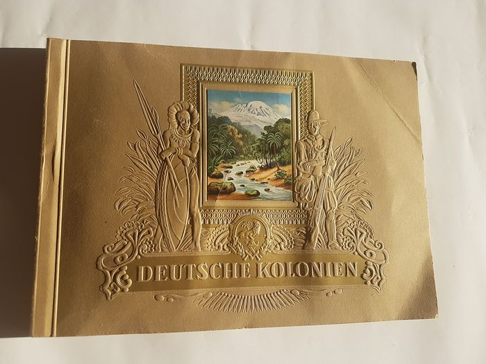 Germany - Administration - Book, German colonies picture album, CigarettenAlbum, German troops in Africa, 1936, complete, - 1936