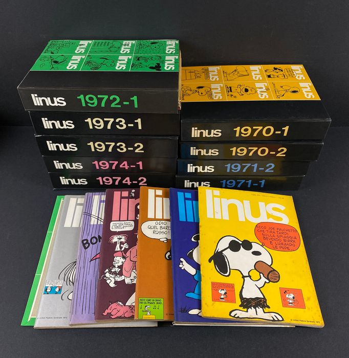 Linus - 5x Annate complete - Sciolte - Softcover - First edition - (1970/1974)