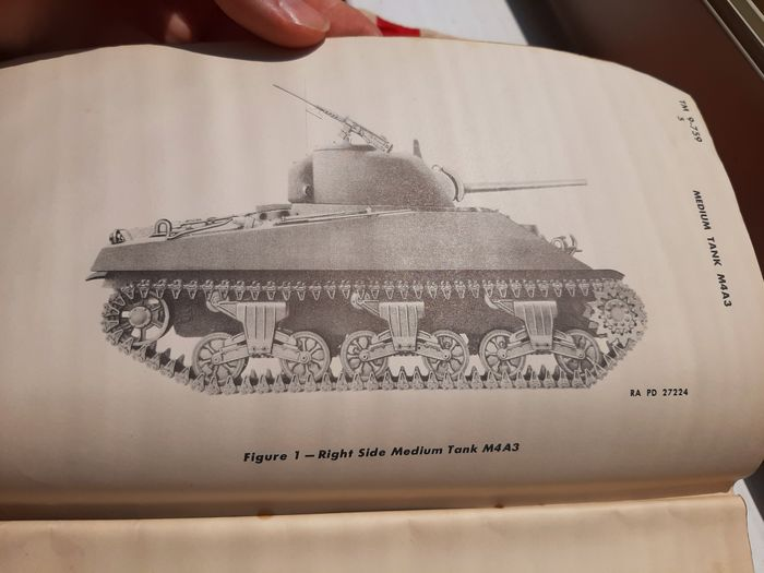 United States - Unique Official WW2 Sherman M4A3 Tank - Technical Manual - 1942