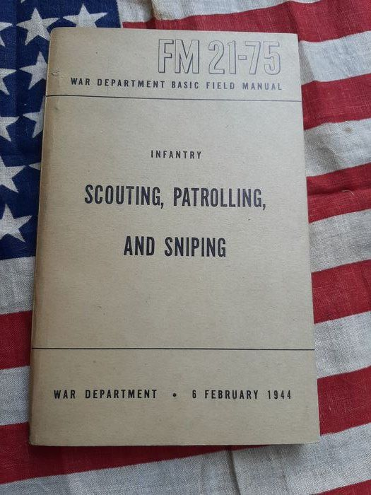 United States - RARE!!! Official US Army SNIPER handbook - Airborne - 1944