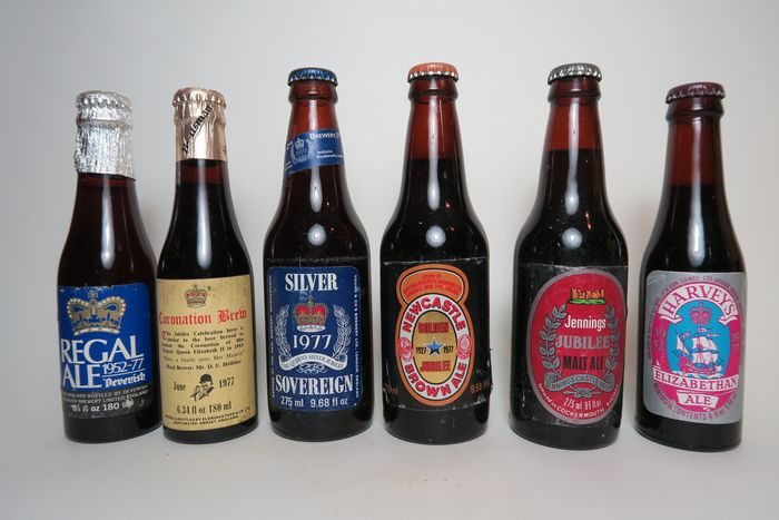 Mixed Ales - QE II Jubilee (1952-77) - 2x18cl and 4x27.5cl - 6 瓶